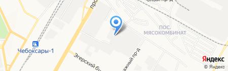 Водстроймонтаж на карте Чебоксар