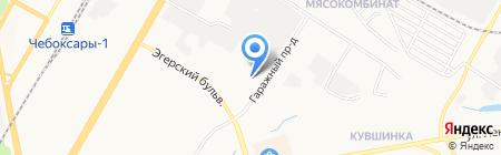 Баст на карте Чебоксар