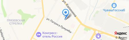 ДЭК на карте Чебоксар
