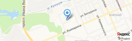 Автостоянка на ул. Бичурина на карте Чебоксар