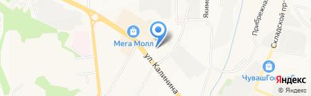 Дома на карте Чебоксар