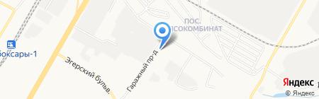 Горсвет на карте Чебоксар