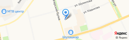 Умняшка на карте Чебоксар
