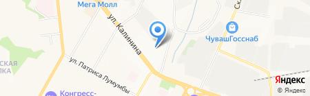Лакор на карте Чебоксар