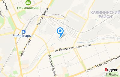 Местоположение на карте пункта техосмотра по адресу г Чебоксары, проезд Мясокомбинатский, д 14