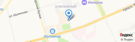Отдел вневедомственной охраны по г. Чебоксары на карте Чебоксар