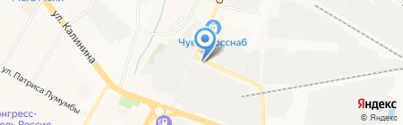 Манэ на карте Чебоксар
