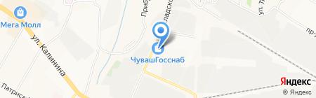 Берег-Чебоксары на карте Чебоксар