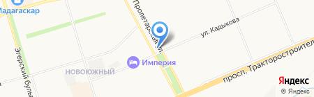 Менуа на карте Чебоксар