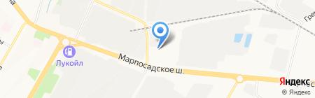 Альянс-Моторс на карте Чебоксар