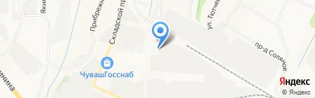 Резерв на карте Чебоксар
