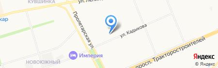 Новоюжный на карте Чебоксар