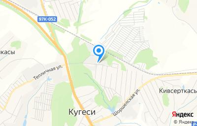 Местоположение на карте пункта техосмотра по адресу Чувашская Республика - Чувашия, п Кугеси, ул Механизаторов, влд 13