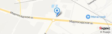 Юрат на карте Чебоксар
