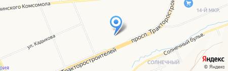 Эткер на карте Чебоксар