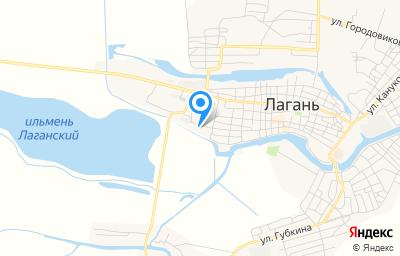 Местоположение на карте пункта техосмотра по адресу Респ Калмыкия, г Лагань, ул Красноармейская, д 2