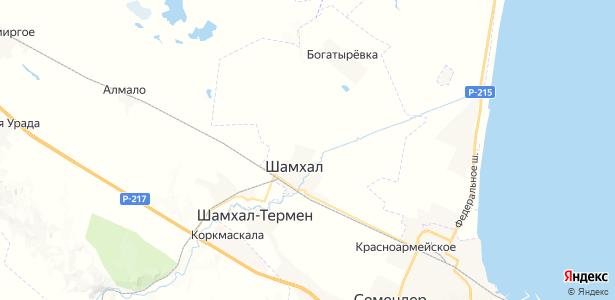 Шамхал на карте