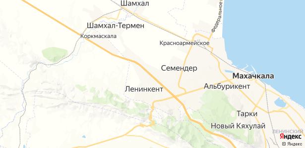 Ленинкент на карте