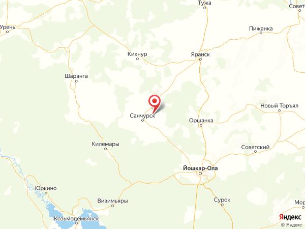 село Ихта на карте