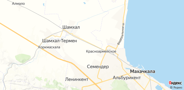 Красноармейское на карте