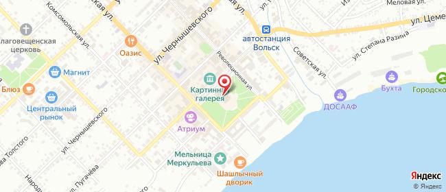 Карта расположения пункта доставки Пункт выдачи в городе Вольск