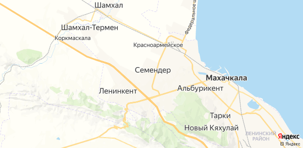 Семендер на карте