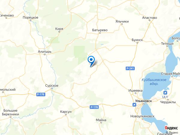 село Татарская Бездна на карте