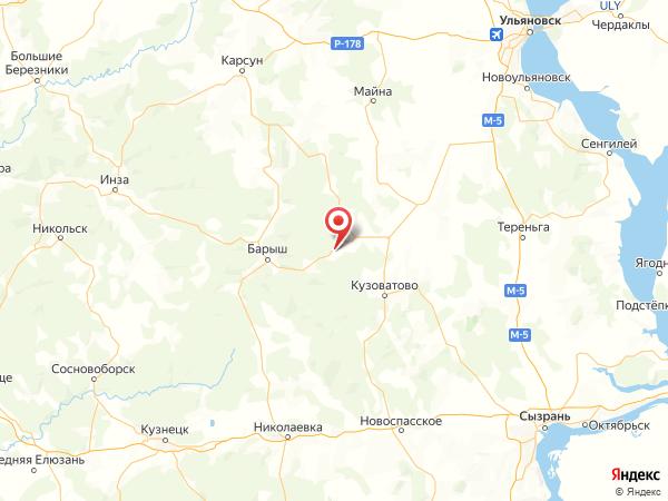 село Акшуат на карте