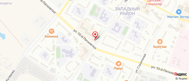 Карта расположения пункта доставки Билайн в городе Новочебоксарск