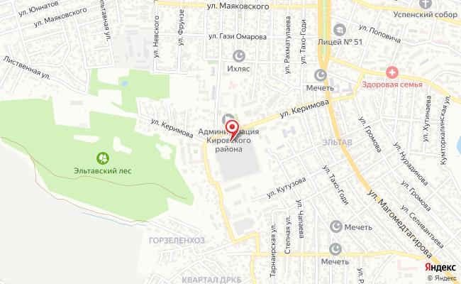 Карта расположения пункта доставки DPD Pickup в городе Махачкала