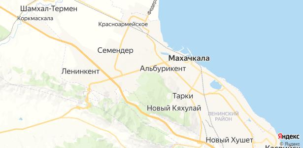Альбурикент на карте