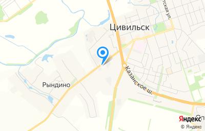 Местоположение на карте пункта техосмотра по адресу Чувашская Республика - Чувашия, г Цивильск, ул Николаева, д 11