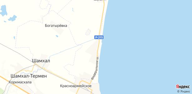 Новолакское на карте