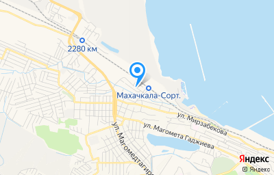 Местоположение на карте пункта техосмотра по адресу г Махачкала, ул Комарова, д 1