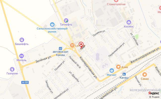 Карта расположения пункта доставки СИТИЛИНК в городе Канаш