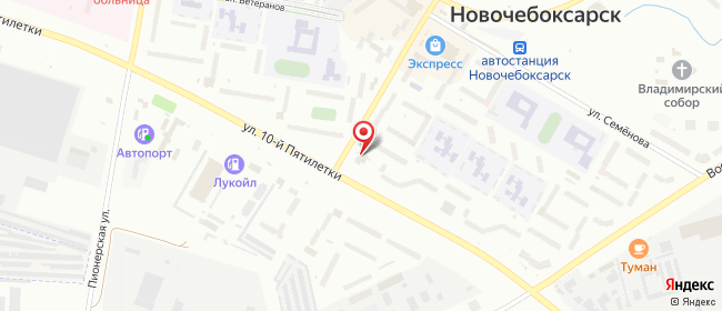 Карта расположения пункта доставки Ростелеком в городе Новочебоксарск