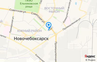 Местоположение на карте пункта техосмотра по адресу Чувашская Республика - Чувашия, г Новочебоксарск, ул Советская, зд 3