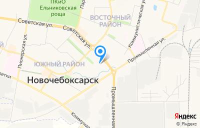 Местоположение на карте пункта техосмотра по адресу Чувашская Республика - Чувашия, г Новочебоксарск, ул Советская, д 3