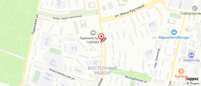Карта расположения пункта доставки Новочебоксарск Винокурова в городе Новочебоксарск