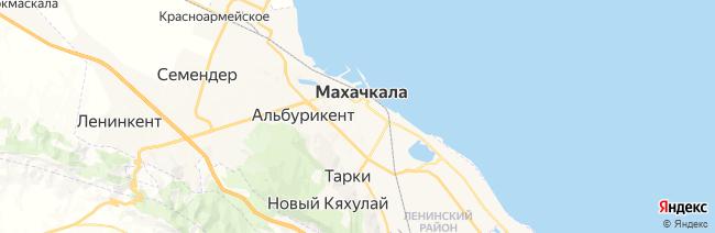 Махачкала на карте