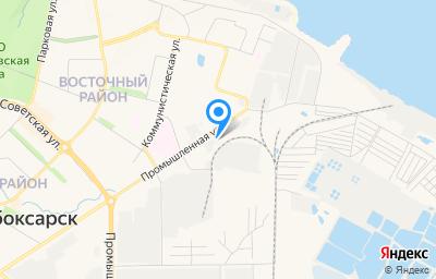 Местоположение на карте пункта техосмотра по адресу Чувашская Республика - Чувашия, г Новочебоксарск, ул Промышленная, влд 9А