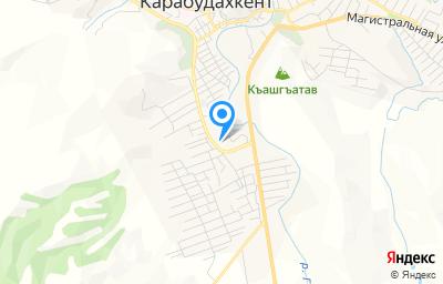 Местоположение на карте пункта техосмотра по адресу Респ Дагестан, с Карабудахкент, ул Ахмеда Абужаева