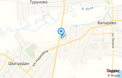 Местоположение на карте пункта техосмотра по адресу Чувашская Республика - Чувашия, с Батырево, ул Дружбы, д 7А