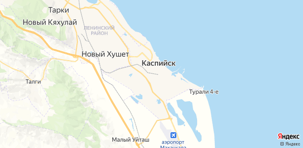 Каспийск на карте