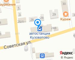 Схема местоположения почтового отделения 433769
