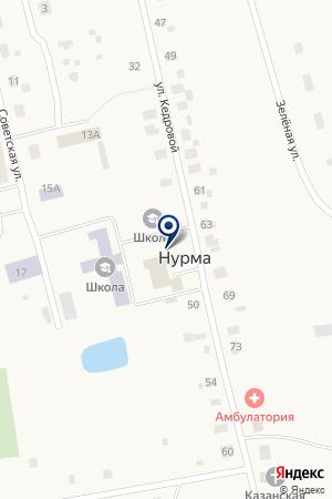 Нурминская сельская библиотека на карте Нурмы
