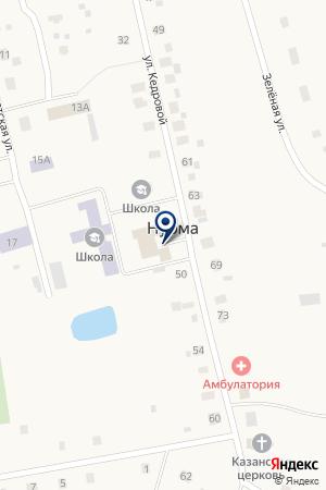 Почтовое отделение на карте Нурмы