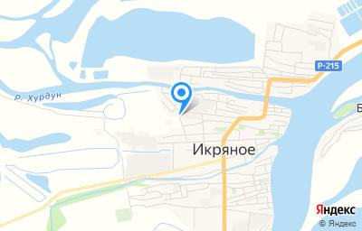 Местоположение на карте пункта техосмотра по адресу Астраханская обл, с Икряное, ул Подгорная, д 38