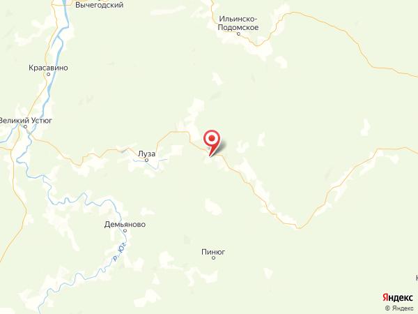 поселок Рыбино на карте