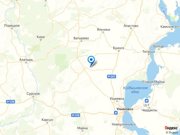 село Убей на карте